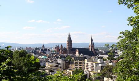 Luftaufnahme von Mainz